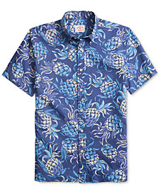Brooks Brothers Men's Pineapple Print Classic Fit Shirt