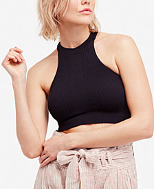Free People Take Me Back Ribbed T-Back Brami