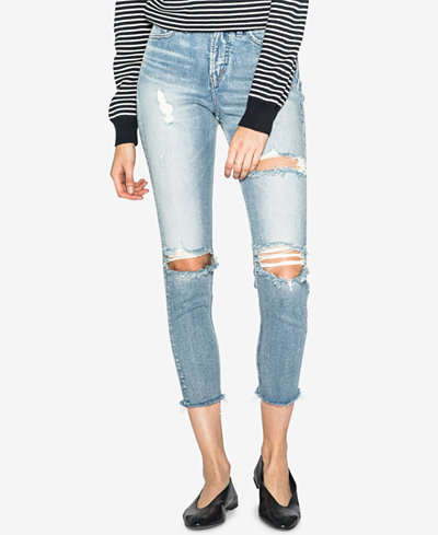 Silver Jeans Co. Mom Ripped High-Rise Jeans