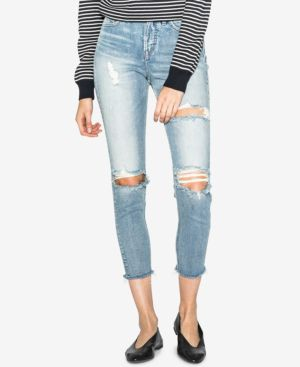 Silver Jeans Co. Mom Ripped High-Rise Jeans 5861323