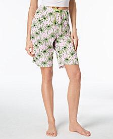HUE® Logo-Drawstring Bermuda Pajama Shorts