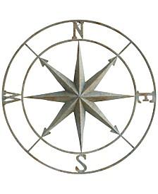 Round Metal Compass Wall Décor