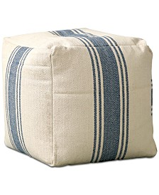 16'' Square Pouf with Stripes