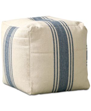 "Image of 16"" Square Pouf with Stripes"