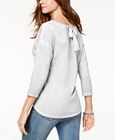 Style & Co Tie-Back Top, Created for Macy's