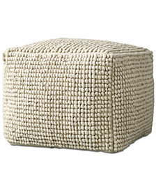 "24"" Square Wool Pouf"