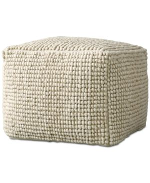 "Image of 24"" Square Wool Pouf"