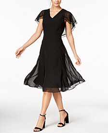 Nanette by Nanette Lepore Lace-Trim Capelet Dress