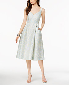 Jill Jill Stuart Jacquard Fit & Flare Midi Dress