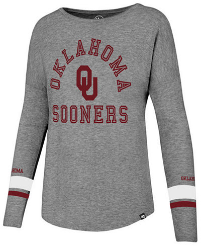 '47 Brand Women's Oklahoma Sooners Courtside Long Sleeve T-Shirt