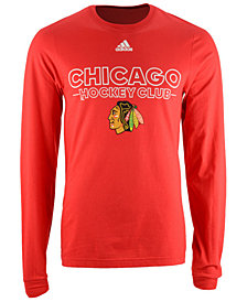 adidas Men's Chicago Blackhawks Frontline Long Sleeve T-Shirt