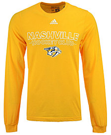 adidas Men's Nashville Predators Frontline Long Sleeve T-Shirt