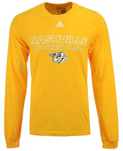 adidas Men's Nashville Predators Frontline Long Sleeve T-Shirt