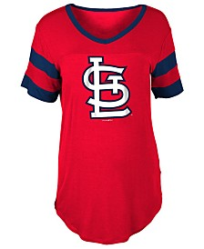 5th & Ocean Women's St. Louis Cardinals Sleeve Stripe Relax T-Shirt