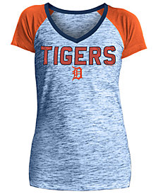 5th & Ocean Women's Detroit Tigers Space Dye Stone T-Shirt