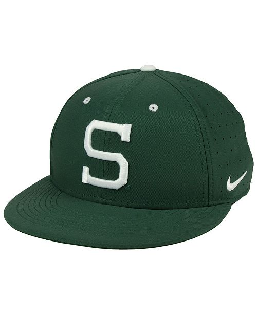 sale retailer f5b02 2185b Nike. Michigan State Spartans Aerobill True Fitted Baseball Cap. Be the  first to Write a Review. main image  main image ...