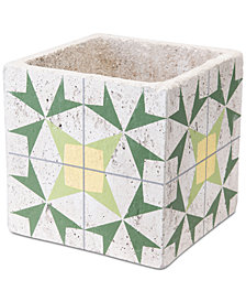 Zuo Cement Arrow Planter  Green & Yellow