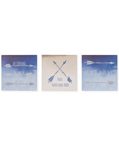 JLA Home Intelligent Design Sentiment Arrows 3-Pc. Canvas Print Set