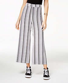 Ultra Flirt By Ikeddi Juniors' Striped Cropped Pants