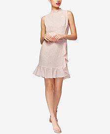 Betsey Johnson Ruffled Mock-Neck Dress