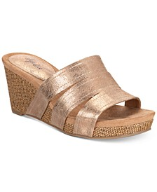 Women's Juliaa Slip-On Platform Wedge Sandals, Created for Macy's