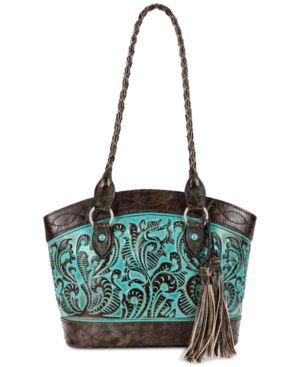 Patricia Nash Tooled Turquoise Zorita Satchel 5295669