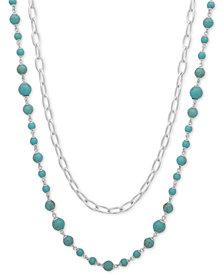 """Lauren Ralph Lauren 2-Pc. Set Link & Bead Strand Necklaces, 36"""" + 3"""" extender"""