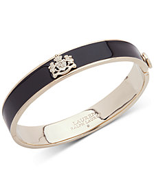 Lauren Ralph Lauren Crest Colored Hinged Bangle Bracelet