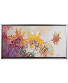 Madison Park Golden Sunflowers Framed Hand-Embellished Canvas Print