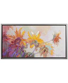 Madison Park Golden Sunflowers Framed Hand-Embellished Canvas Print
