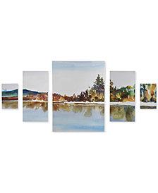 Madison Park My Retreat 5-Pc. Gel-Coated Canvas Print Set