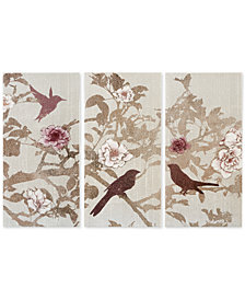 Madison Park Songbird 3-Pc. Gel-Coated Canvas Print Set