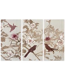 Madison Park Songbird 3-Pc. Gel-Coated Canvas Print Set