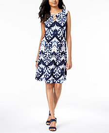 JM Collection Petite Printed O-Ring Sheath Dress, Created for Macy's