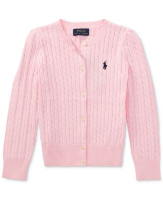 Little Girls Cable Cardigan