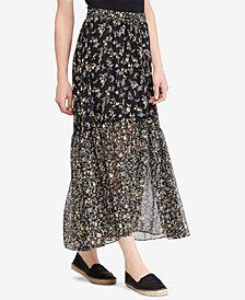 Lauren Ralph Lauren Petite Floral-Print Skirt