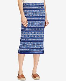 Lauren Ralph Lauren Geometric Midi Skirt