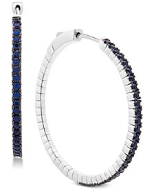 Sapphire Hoop Earrings (1-1/3 ct. t.w.) in 14K White Gold