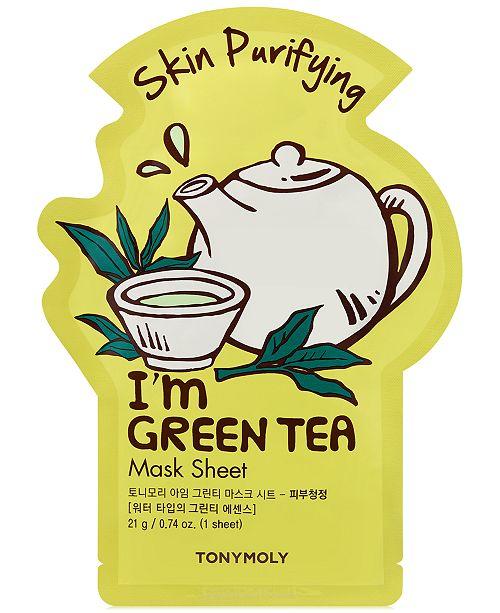 TONYMOLY I'm Green Tea Sheet Mask - (Skin Purifying)
