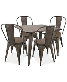 Oregon 5-Pc. Dining Set, Quick Ship