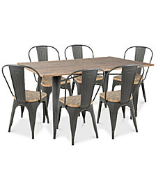 Oregon 7-Pc. Dining Set, Quick Ship