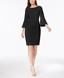 Calvin Klein Bell-Sleeve Sheath Dress, Regular & Petite