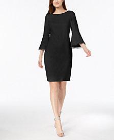 Calvin Klein Bell-Sleeve Sheath Dress, Regular & Petite