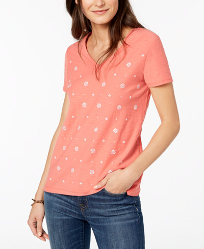 Tommy Hilfiger Embellished T-Shirt, Created for Macy's