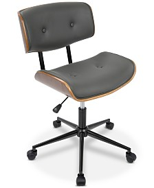 Lombardi Faux Leather Office Chair, Quick Ship