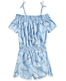 Epic Threads Leaf-Print Romper, Big Girls, Created for Macy's