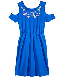 Epic Threads Big Girls  Cold-Shoulder Super-Soft Dress, Created for Macy's