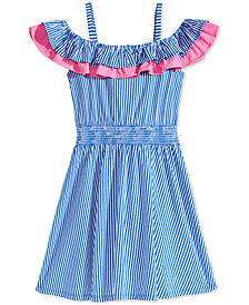 Epic Threads Striped Ruffle-Trim Dress, Big Girls, Created for Macy's