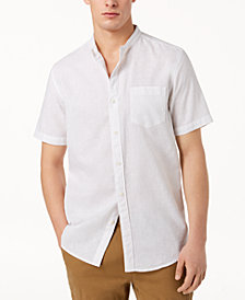 American Rag Men's Banded Collar Shirt, Created for Macy's