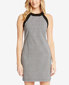 Karen Kane Gingham Contrast-Trim Dress